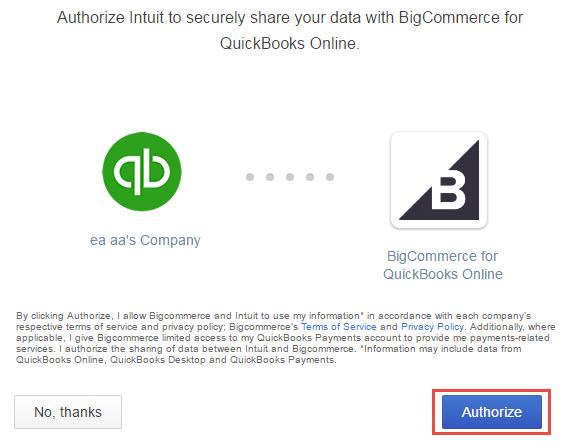 Quickbooks Online Setup Process Walkthrough – Bigcommerce